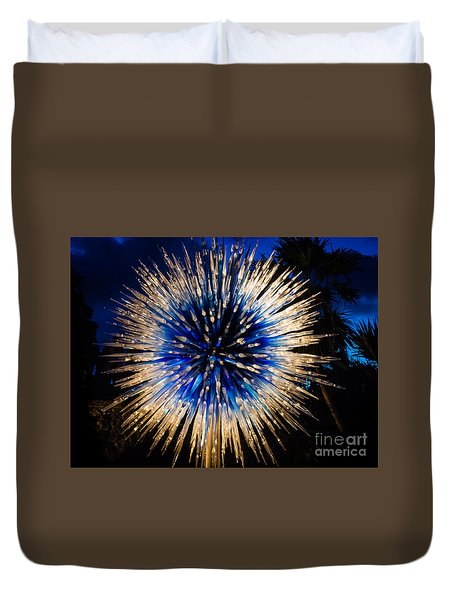 Blue Star At Night Duvet Cover