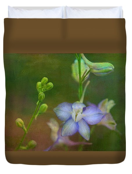 Blue Star Duvet Cover by Carolyn Dalessandro