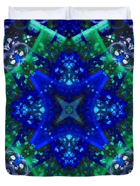 Blue Star Mandala Duvet Cover