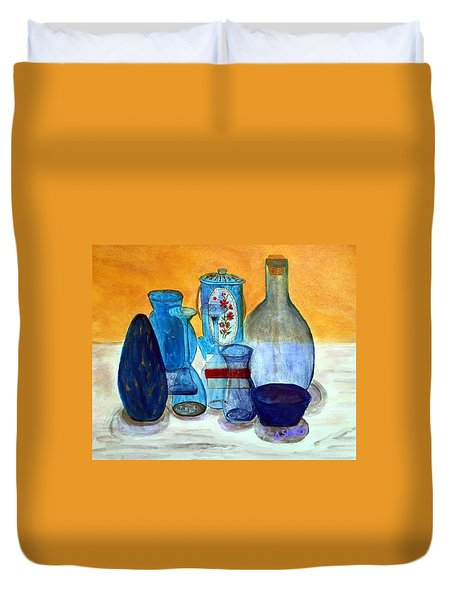 Blue Still Life Duvet Cover