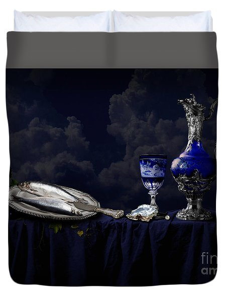 Still Life In Blue Duvet Cover