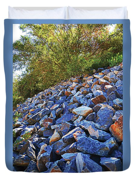 Blue Stone Hill  Duvet Cover