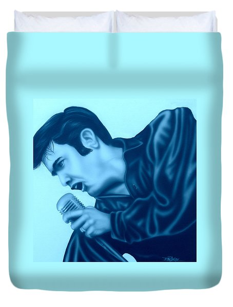 Blue Suede Shoes Duvet Cover by Darren Robinson