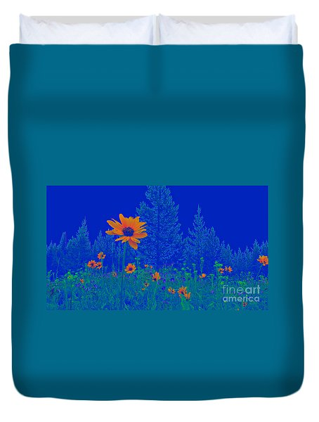 Blue Summer Duvet Cover by Janice Westerberg