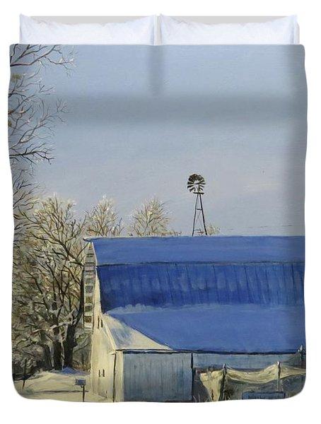 Blue Sunday Duvet Cover