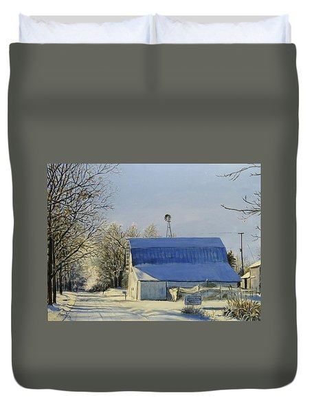 Blue Sunday Duvet Cover