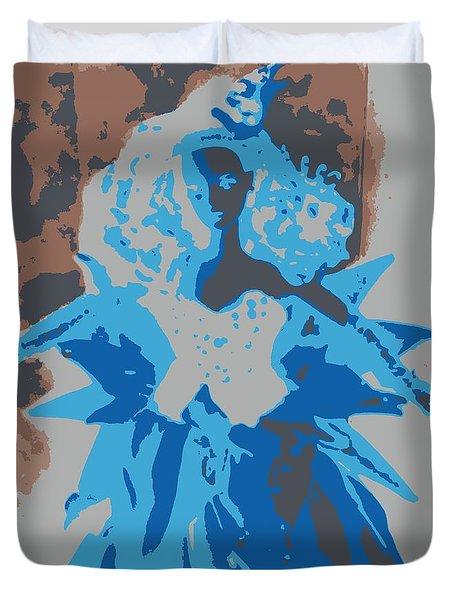 Blue Sunflower Barbie Duvet Cover