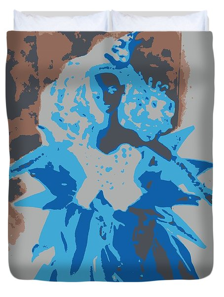 Blue Sunflower Barbie Duvet Cover