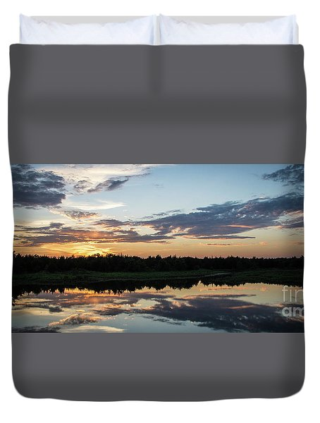 Blue Sunset 2 Duvet Cover