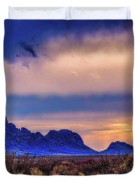 Blue Sunset Nm-az Duvet Cover