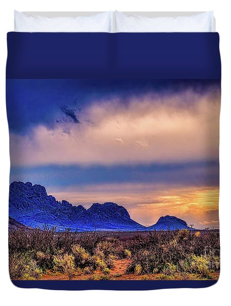 Blue Sunset Nm-az Duvet Cover by Diana Mary Sharpton