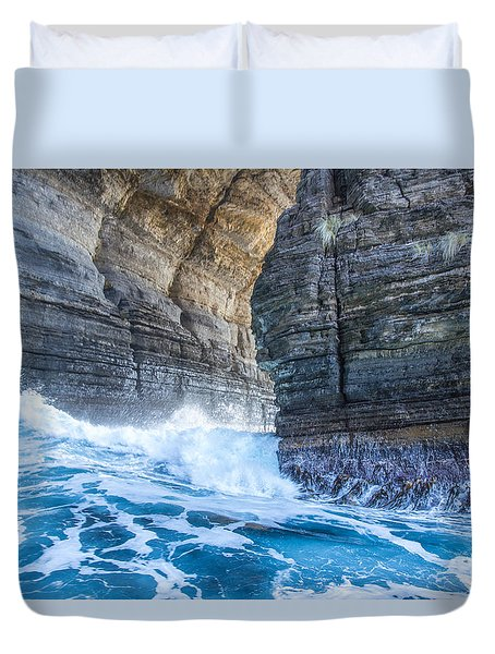 Blue Surge Duvet Cover