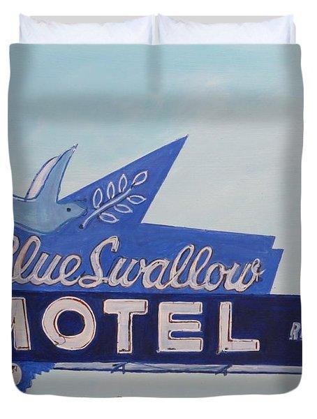 Blue Swallow Duvet Cover
