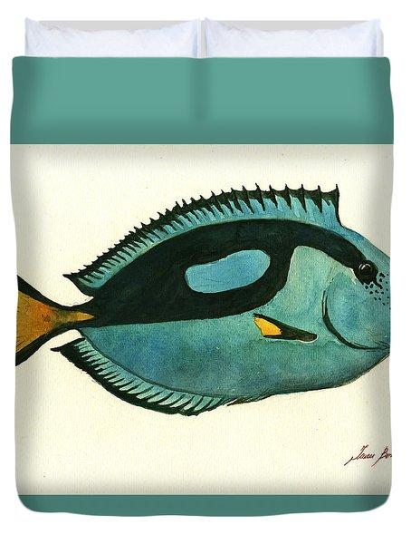 Blue Tang Fish Duvet Cover