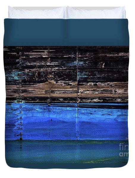 Blue Tanker Duvet Cover