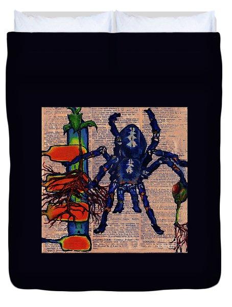 Blue Tarantula Duvet Cover