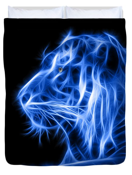 Blue Tiger Duvet Cover