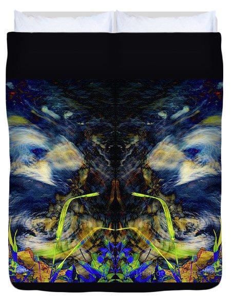 Blue Tigers Devil Duvet Cover