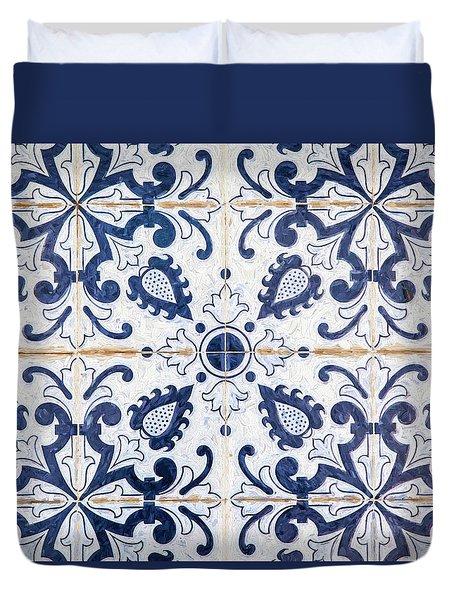 Blue Tile Of Portugal Duvet Cover