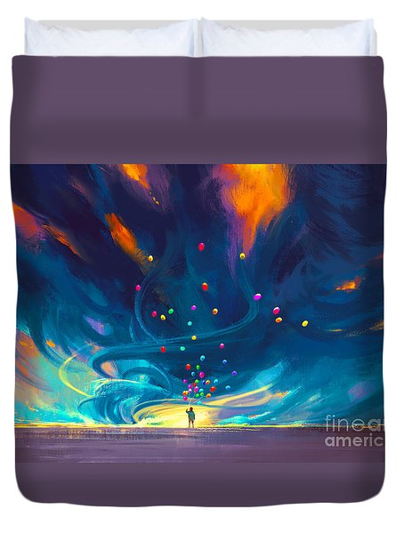 Blue Tornado Duvet Cover