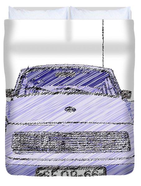Blue Trabant Duvet Cover