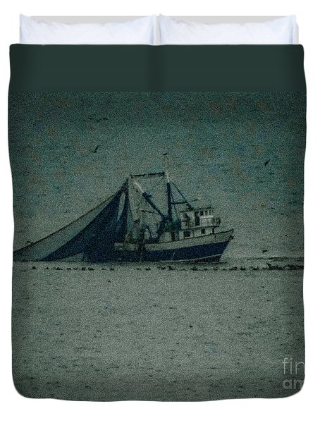 Blue Trawler 3 Duvet Cover