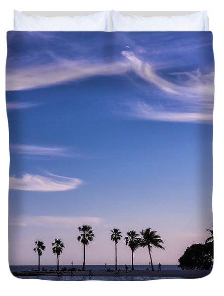 Blue Tropics Duvet Cover