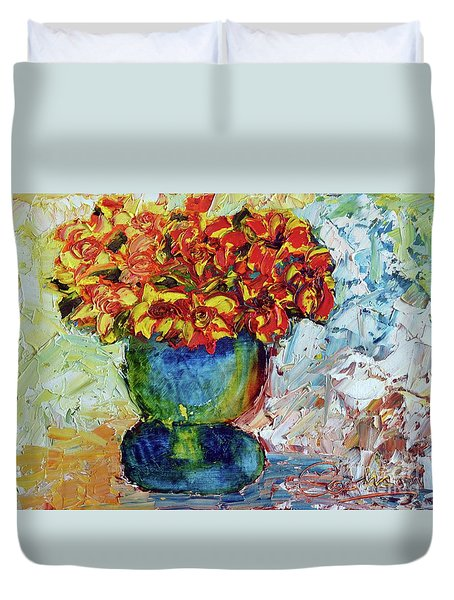 Blue Vase Duvet Cover