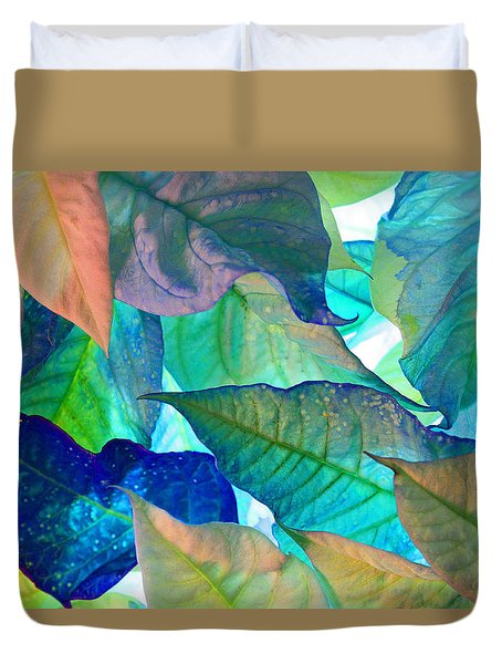 Duvet Cover featuring the photograph Blue Velvet by Bobby Villapando