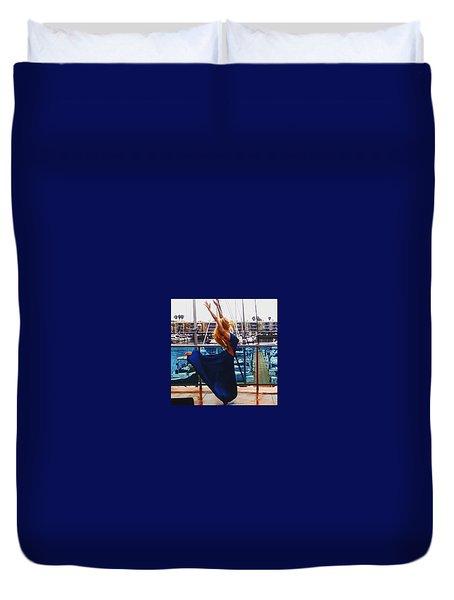 Blue Velvet Rain  Duvet Cover
