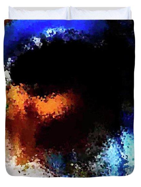 Blue Venice Mask Duvet Cover