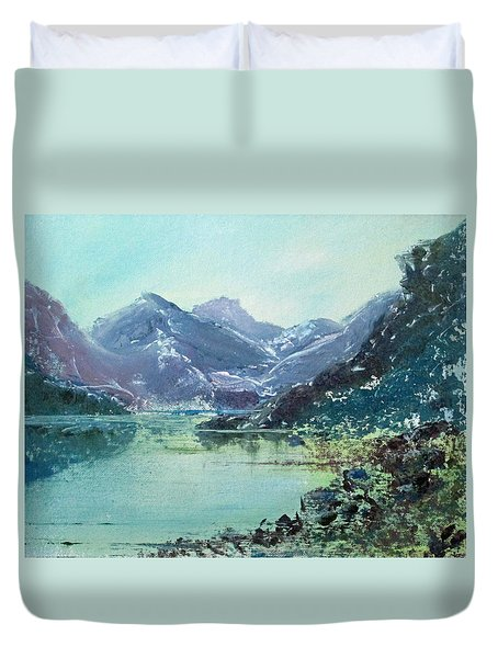 Blue Vista Two Duvet Cover