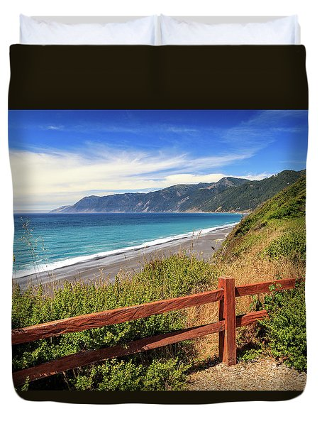 Duvet Cover featuring the photograph Blue Waters Of The Lost Coast by James Eddy
