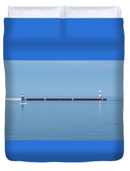 Blue Waters Sailing Duvet Cover