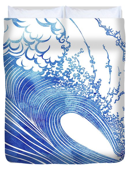 Blue Wave Duvet Cover