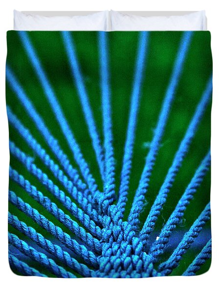 Duvet Cover featuring the photograph Blue Weave by Xn Tyler
