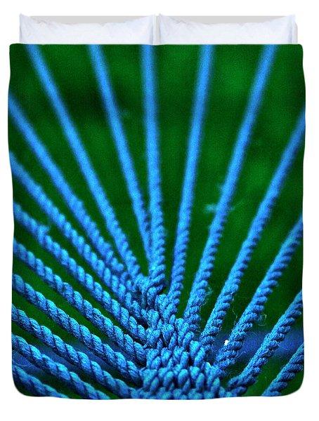 Blue Weave Duvet Cover
