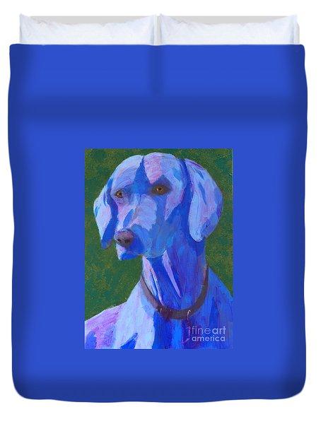 Blue Weimaraner Duvet Cover
