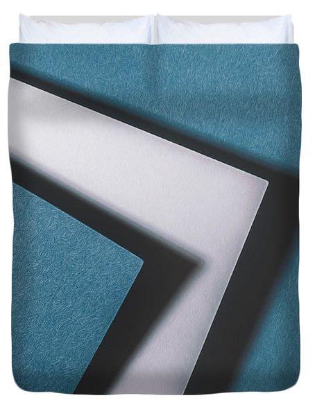 Blue White Blue Duvet Cover