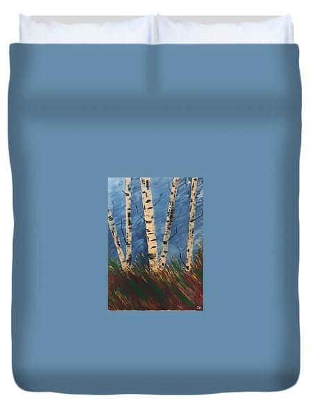 Blue Wind Blew Duvet Cover