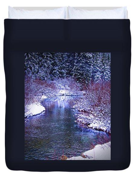 Blue Winter Duvet Cover