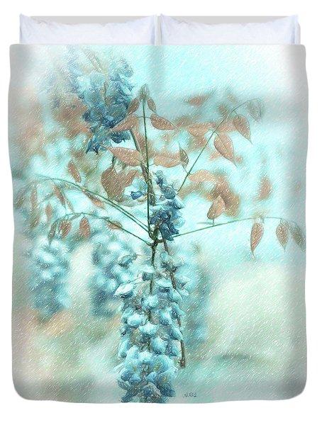 Blue Wisteria Duvet Cover by Angela A Stanton