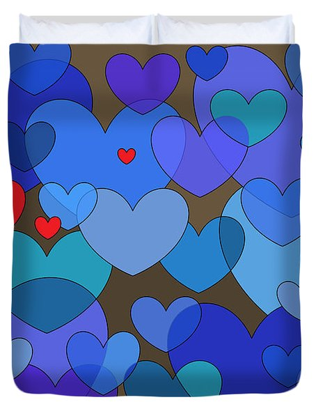 Blue Without You Duvet Cover