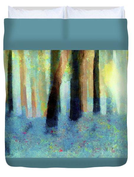 Bluebell Wood By V.kelly Duvet Cover