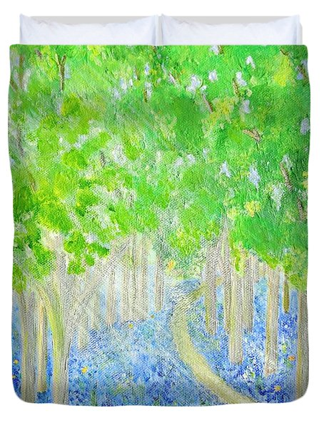 Bluebell Wood With Butterflies Duvet Cover