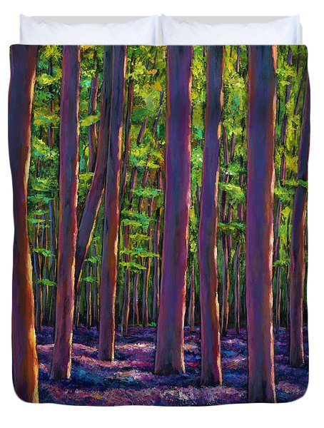 Bluebells And Forest Duvet Cover