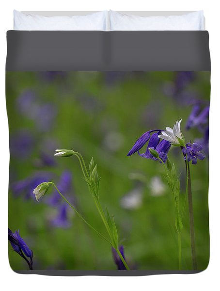 Bluebells And Stitchwort  Duvet Cover