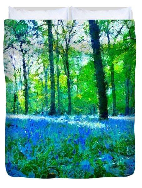 Bluebells In Woodland Duvet Cover