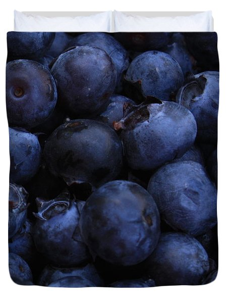 Blueberries Close-up - Vertical Duvet Cover by Carol Groenen