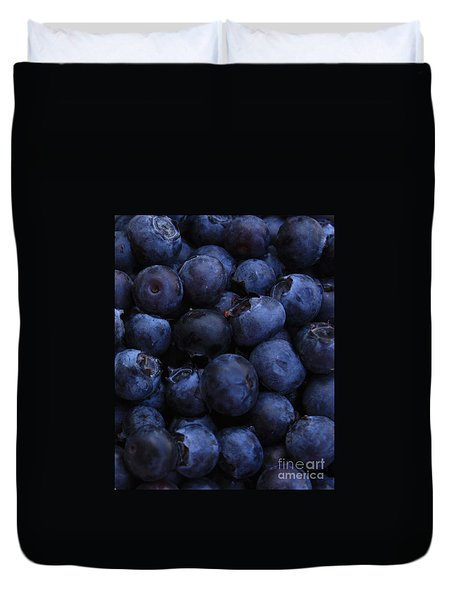 Blueberries Close-up - Vertical Duvet Cover